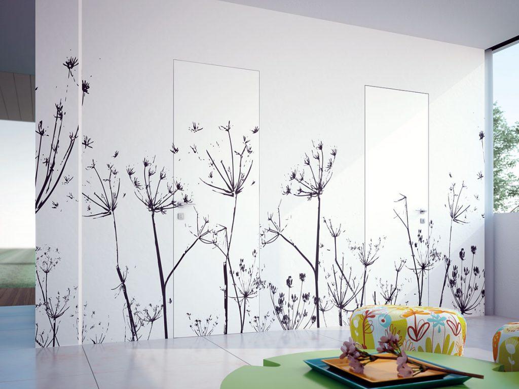 Psychológia farieb farebné zladenie interiérových dverí s ostatnými prvkami - Eclisse SYNTESIS LINE BATTENTE