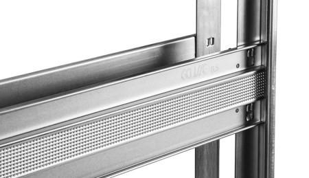 Dvojitý rám pre sadrokartón - Testovaná robustnosť